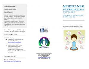 brochure-Mindfulness corso ragazzini Paolo Ricci-1